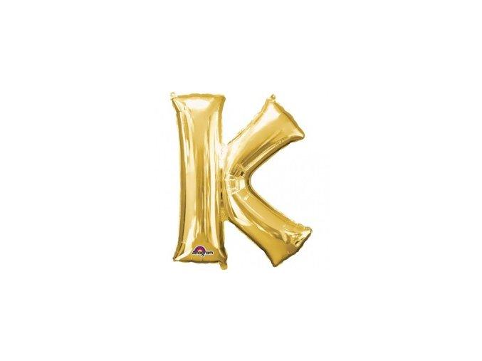 pol pm Balon foliowy litera K zlota 25 x 33 cm 21340 1