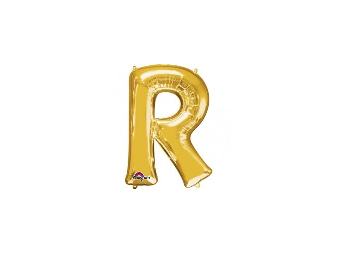 pol pm Balon foliowy litera R zlota 22 x 33 cm 21327 1