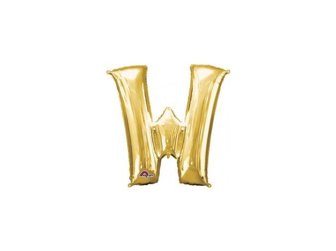 pol pm Balon foliowy litera W zlota 33 x 33 cm 21321 1