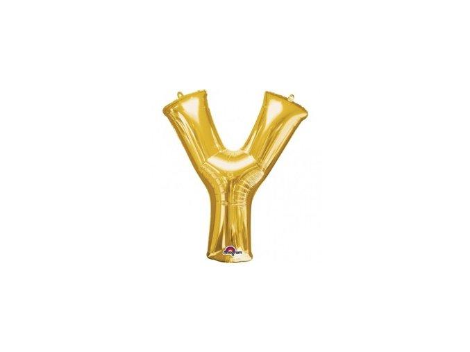 pol pm Balon foliowy litera Y zlota 27 x 35 cm 21317 1