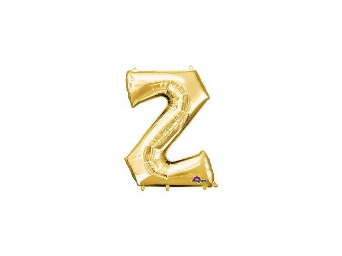 pol pm Balon foliowy litera Z zlota 25 x 33 cm 21315 1