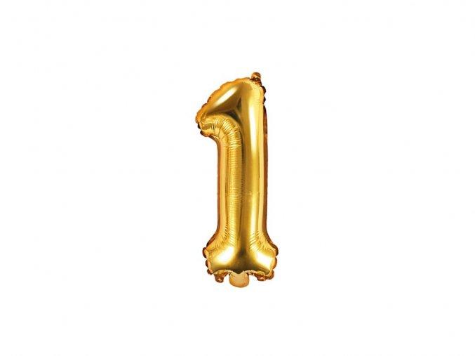 eng pl Mini Shape Number 1 Gold Foil Balloon 35 cm 1 pc 34269 1