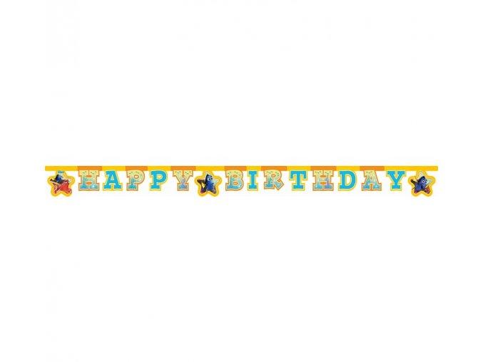 Banner Happy Birthday Hľadá sa Dory party 2m