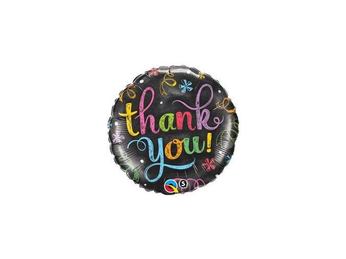 18 inch es thank you chalkboard folia lufi q11826