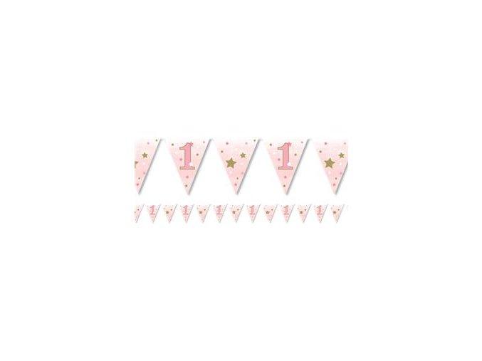one little star girl paper bunting OLSGBUNT v1