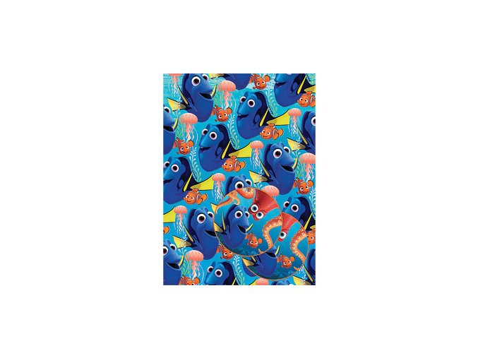 disney finding dory wrapping paper tags WRAP165