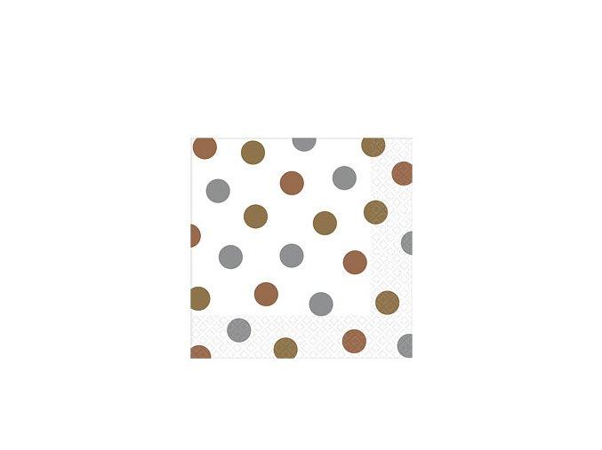 Metallic Dots Napkins DCMENAPKD