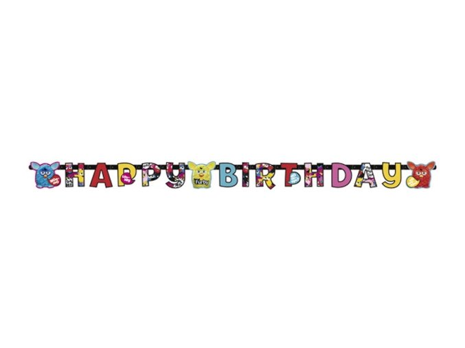 Banner Happy Birthday Furby 180cm