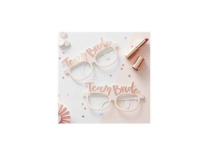 Team Bride Rose Gold Foiled Glasses HENP076 v1 a1