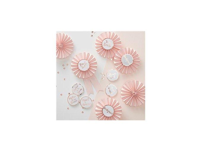 Rose Gold Foiled Badges Kit HENP074 v1 a1