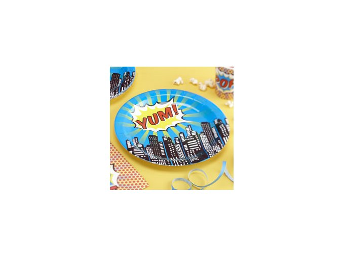 pop art superhero plates POPAPLAT ps13