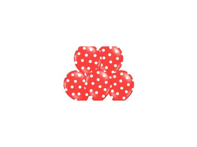 eng pm Balloons 14 Pastel Red Dots 1 pc 9728 1