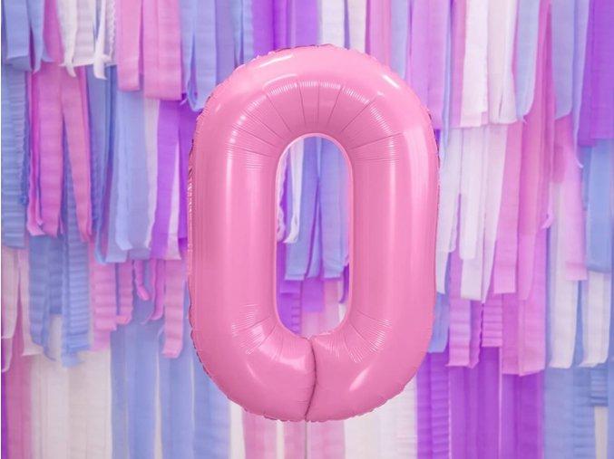 eng pl Number 0 pink SuperShape Foil Balloon 86 cm 1 pc 38325 1