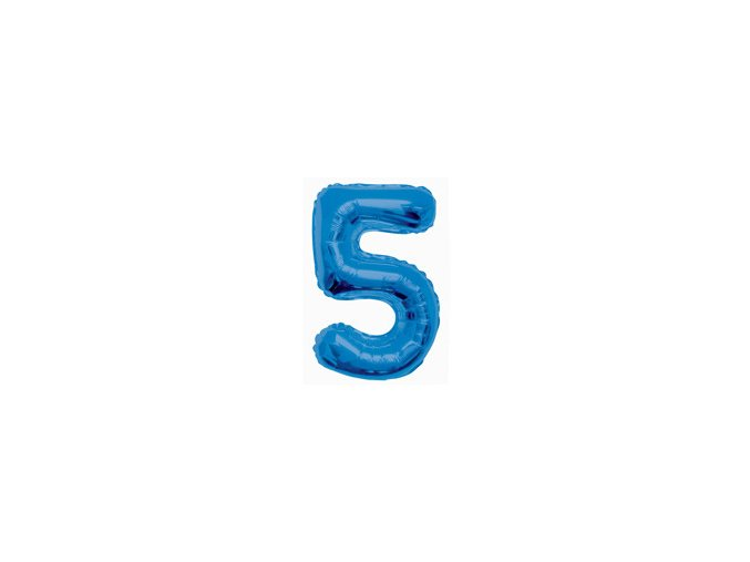 eng pm Number 5 Blue Foil Balloon 86 cm 1 pc 21055 2
