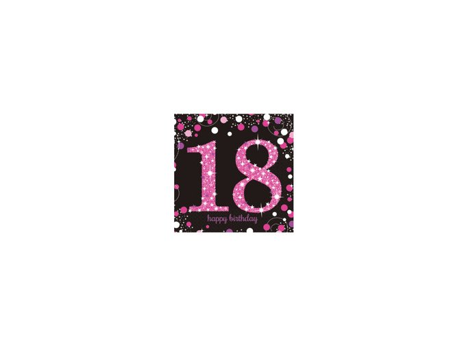 eng pm Pink Celebration 18th Luncheon Napkins 33cm 16 pcs 20136 2