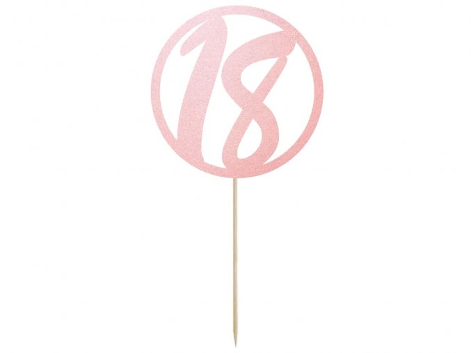 eng pl Cake topper 18 birthday pink 1 pc 38625 1