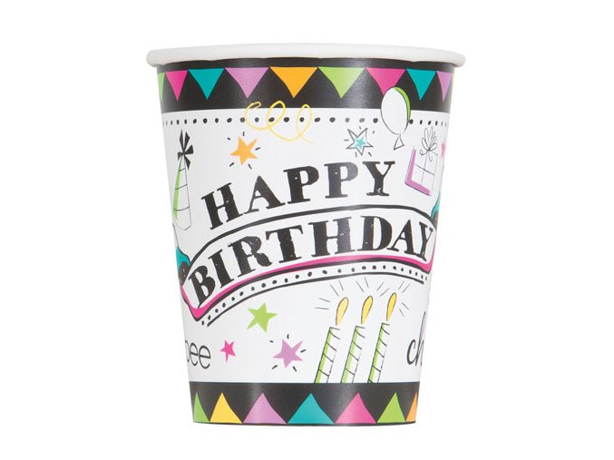 eng pl Doodle Paper Cups 266 ml 8 pcs 24520 2