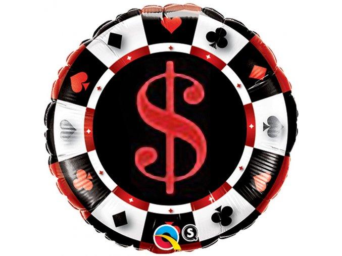 18 round foil casino qualatex 43389