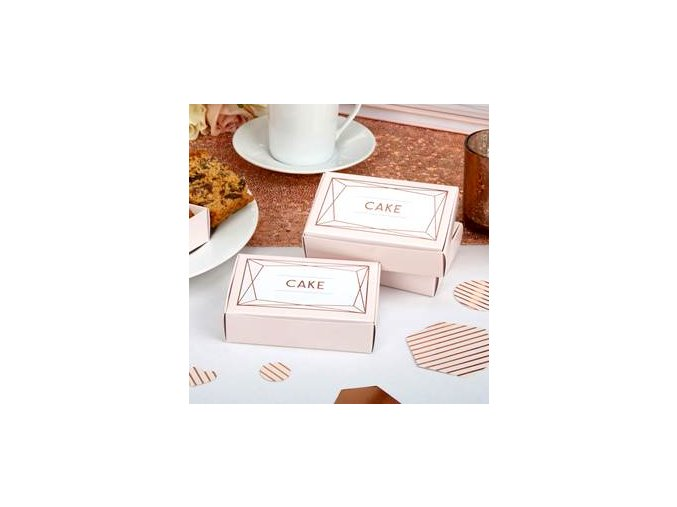 geo blush Wedding Cake Boxes GEOBCBOX v2