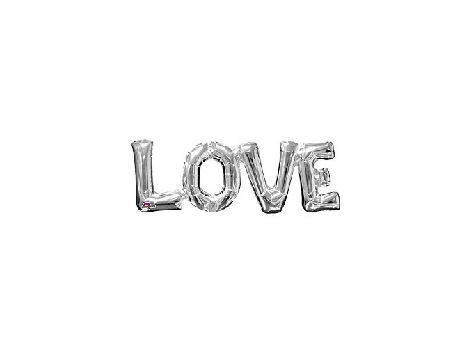 love silver balloon FOIL2447