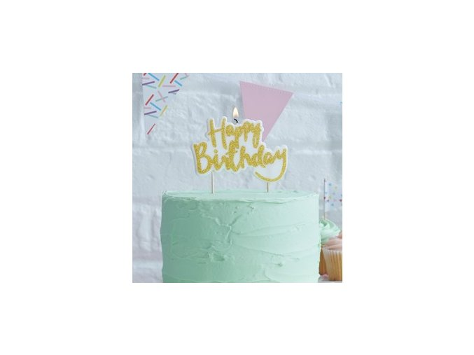 Gold Happy Birthday Candle PMIXCAND v1 (1)