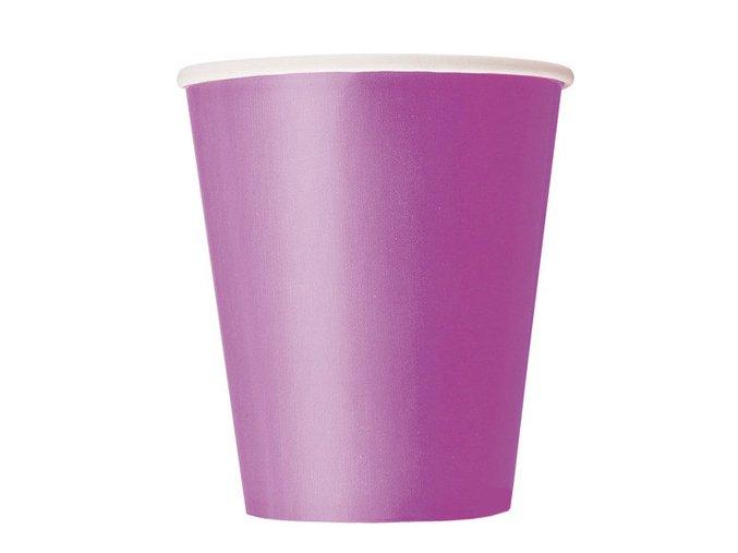 Pohár fialový 270ml 8ks v balení