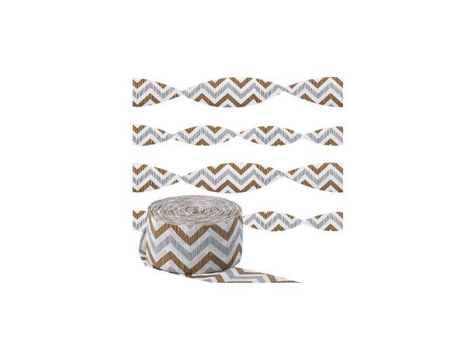 Metallic Chevron Crepe Streamer DCMESTREC