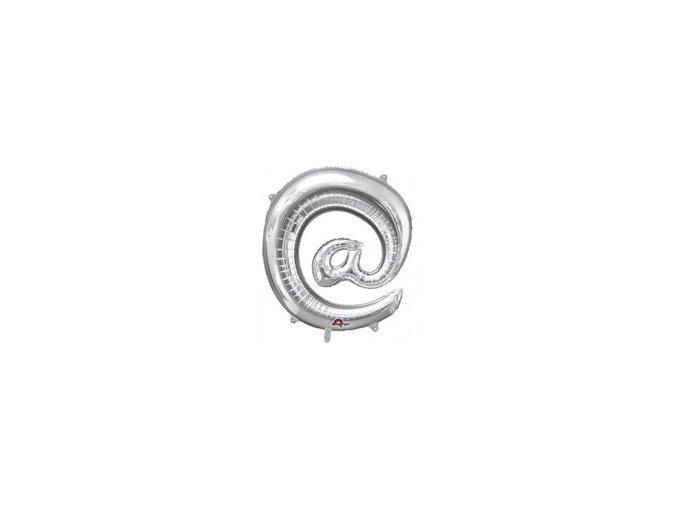 eng pm Mini Shape Symbol @ Silver Foil Balloon 33 x 35 cm 1 pc 23941 1