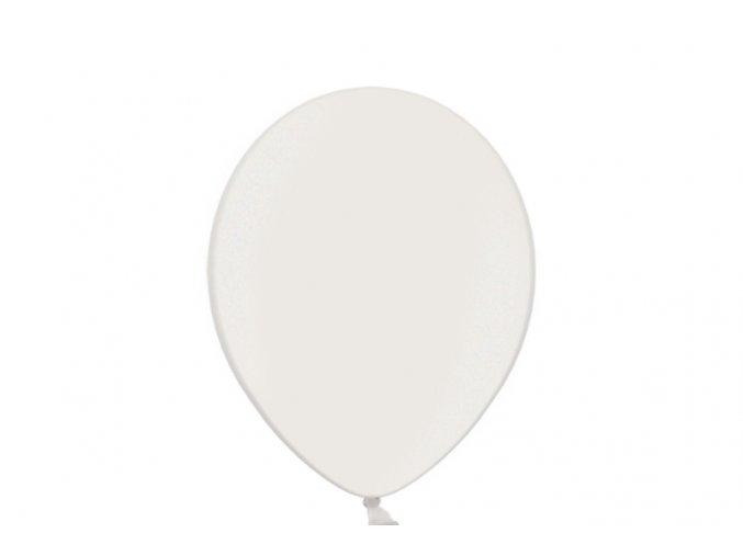 """Metalický balón 14"""" biely 6ks v balení"""