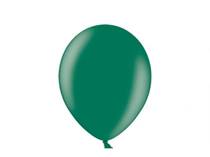 "Latexový balón 14"" tmavo zelený metalicky 1ks v balení"