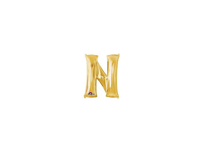 Gold Letter N Balloon Foil FOIL2381 th2