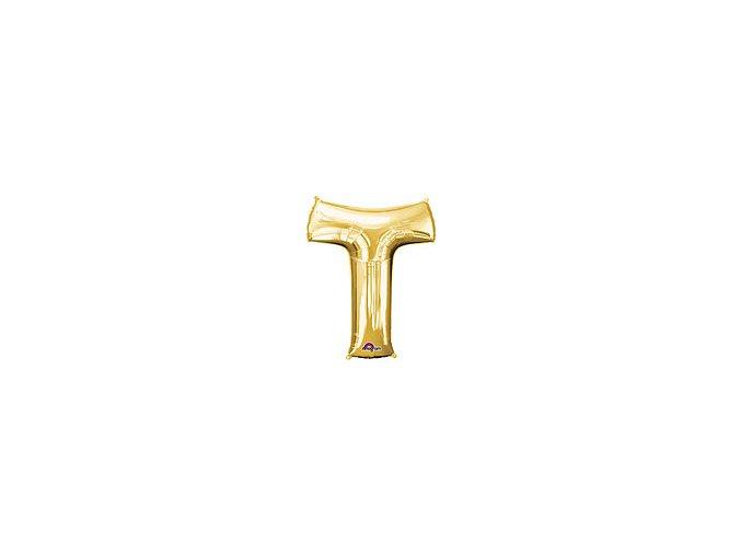 Gold Letter T Balloon Foil FOIL2387 th2