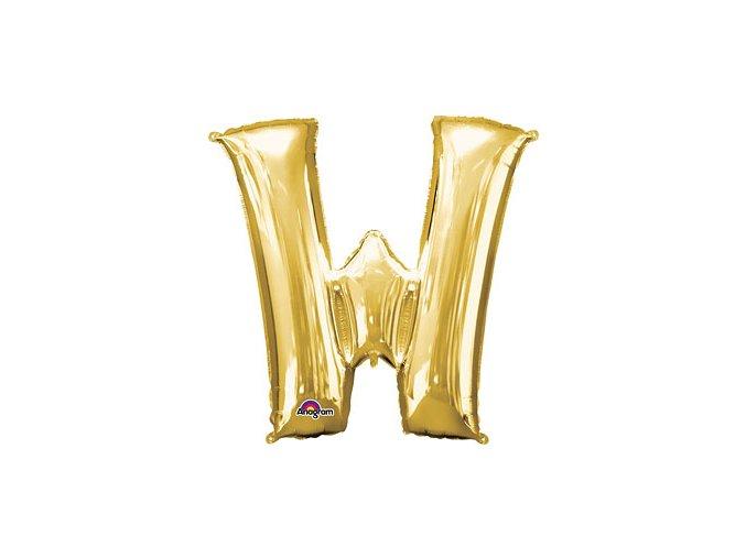 Gold Letter W Balloon Foil FOIL2390
