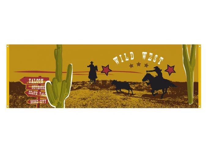 Banner Wild West 74 x 220cm