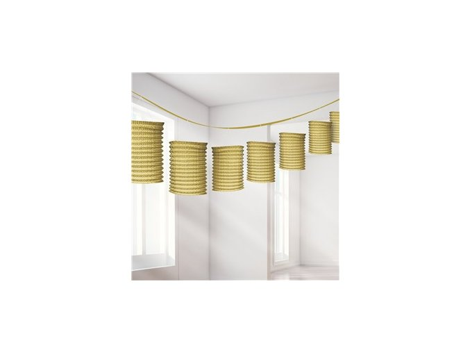 Gold Paper Lantern Garland Decoration DECO947 v1