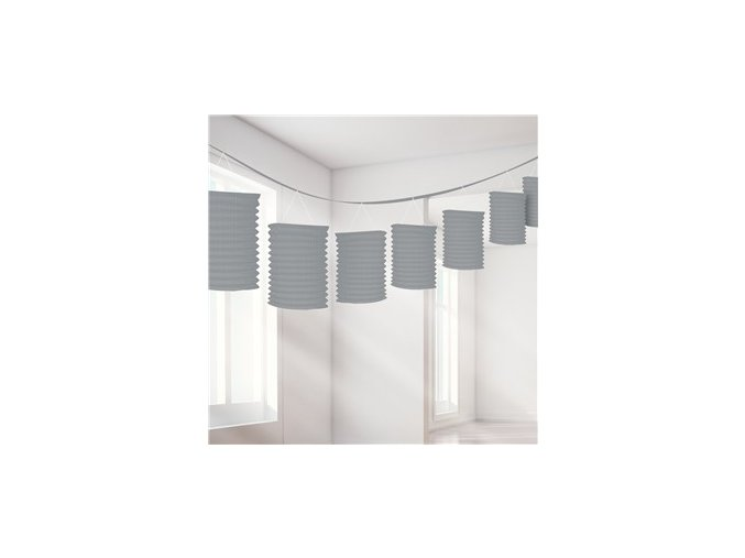 Silver Paper Lantern Garland Decoration DECO956 v1