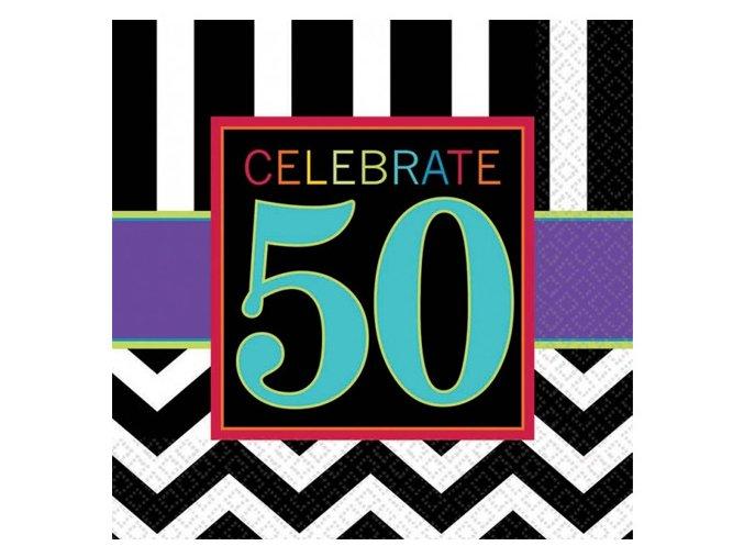 eng pl 50th Celebrate Luncheon Napkins 33cm 16 pcs 20052 1