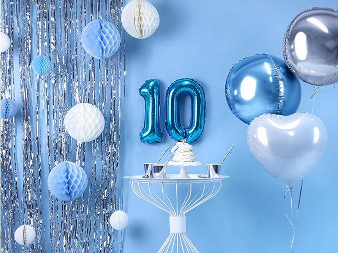 eng pl Number 1 Blue Foil Balloon 35 cm 1 pc 34020 1
