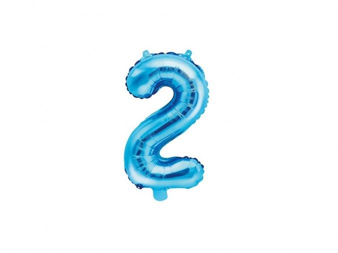 eng pl Mini Shape Number 2 Blue Foil Balloon 35 cm 1 pc 34061 2