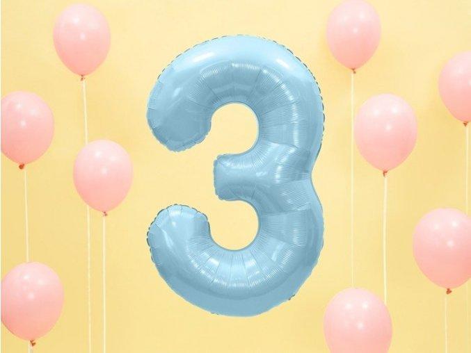 pol pl Balon foliowy 3 jasny niebieski 86cm 1szt FB1P 3 001J 7085 3