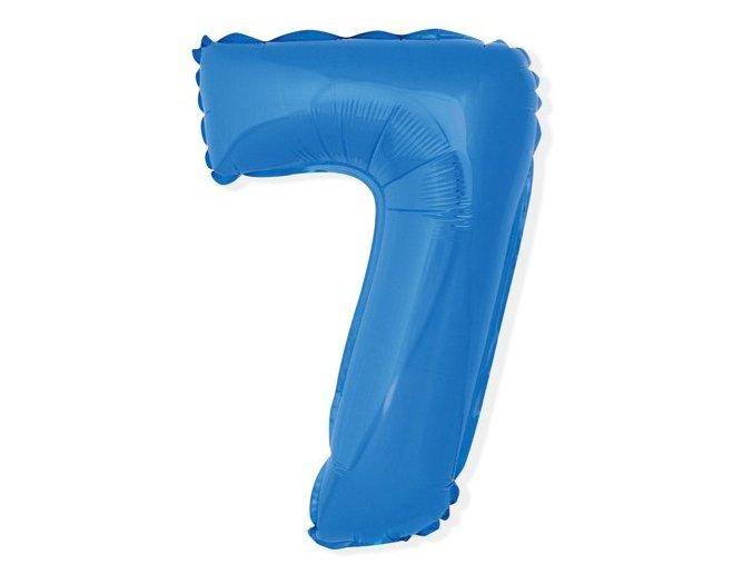 eng pl Mini Shape Number 7 Blue Foil Balloon 35 cm 1 pc 26680 2