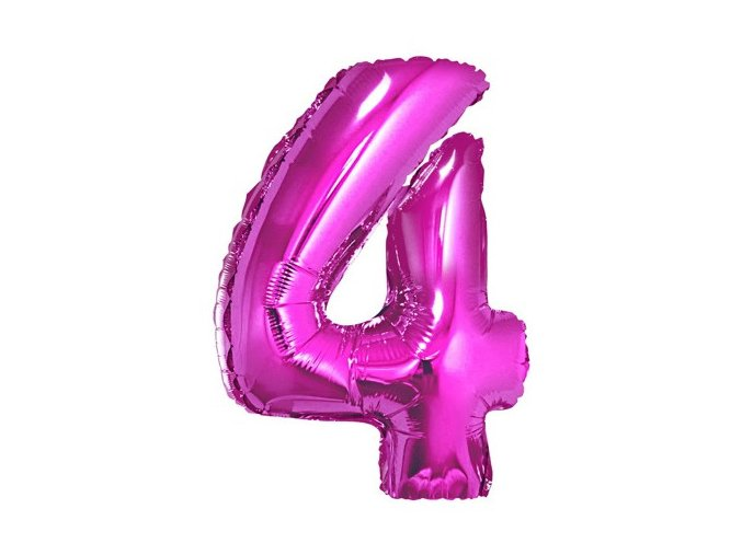 eng pl Mini Shape Number 4 Pink Foil Balloon 35 cm 1 pc 26667 2