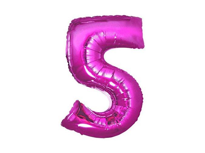 eng pl Mini Shape Number 5 Pink Foil Balloon 35 cm 1 pc 26668 2