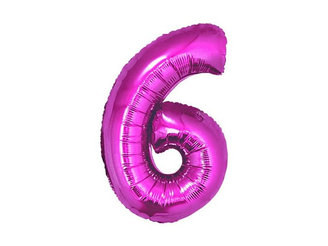 eng pl Mini Shape Number 6 Pink Foil Balloon 35 cm 1 pc 26669 2