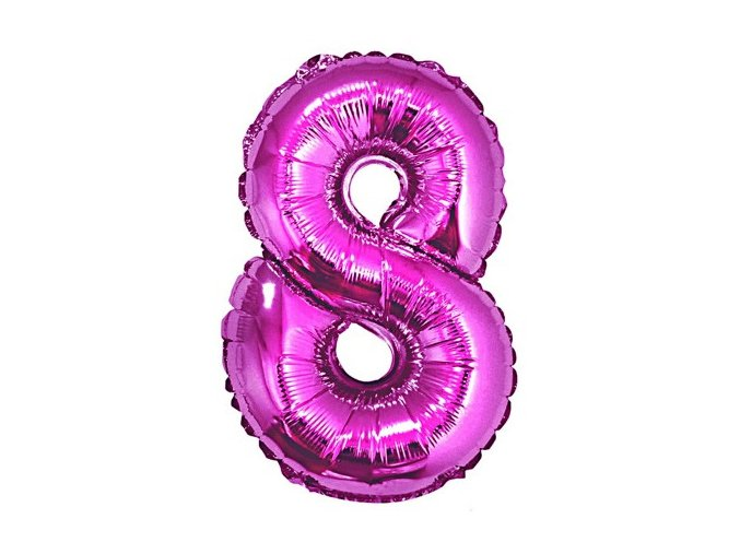 eng pl Mini Shape Number 8 Pink Foil Balloon 35 cm 1 pc 26671 2