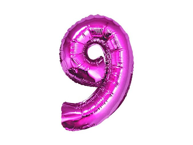 eng pl Mini Shape Number 9 Pink Foil Balloon 35 cm 1 pc 26672 2