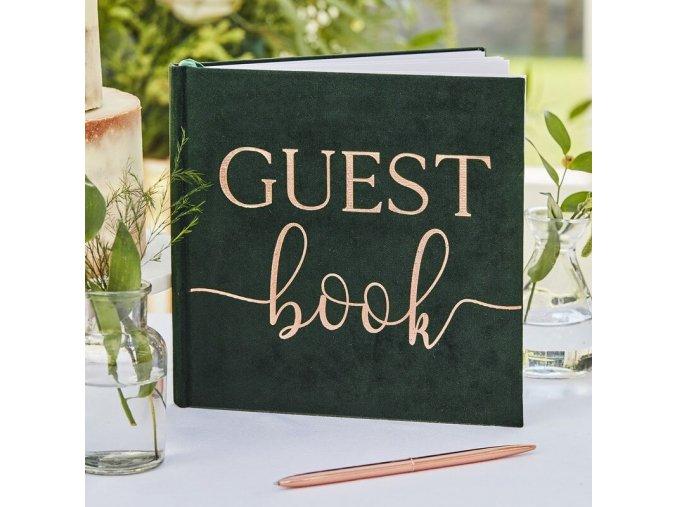 br 312 green velvet guest book min