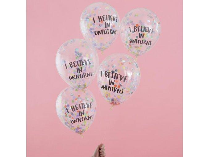 ps 561 i believe in unicorns confetti balloons