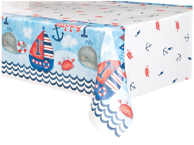 eng pl Nautical 1st Birthday Tablecover 213x137 cm 1 pc 24488 1
