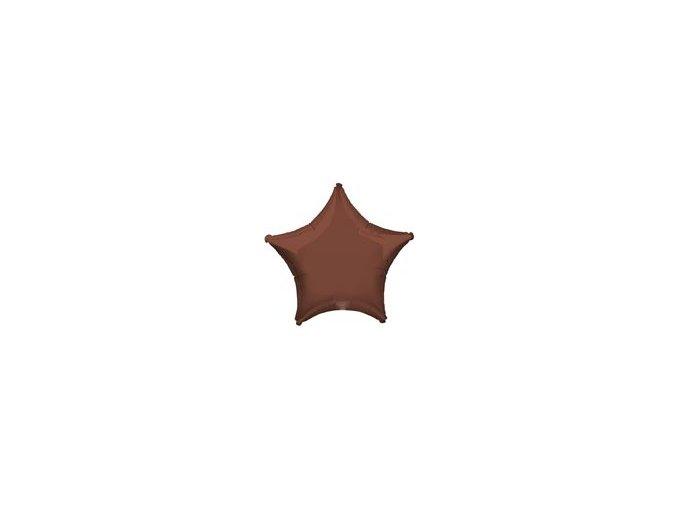 Fóliový balón Hviezda hnedá 45cm